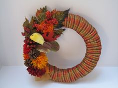 Beautiful Fall Wreath by TrinasGiftShack on Etsy