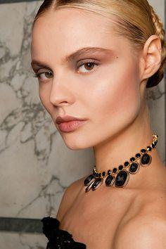 Salvatore Ferragamo Fall 2012. http://votetrends.com/polls/369/share #makeup #beauty #runway #backstage
