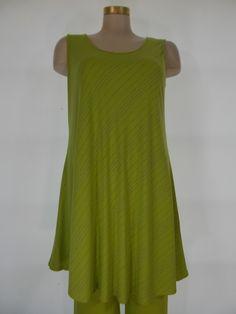 Chalet - Bamboo Lime/Smoke Stripe Viola A-Line Tank/Dress
