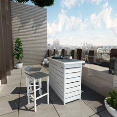 Outdoor Bar Sets, Indoor Outdoor, Outdoor Living, Outdoor Decor, Outdoor Ideas, Patio Bar Stools, Patio Bar Set, Balcony Bar, Deck Seating