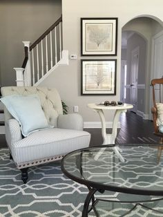 "Sherwin Williams ""Agreeable Gray"" wall color"
