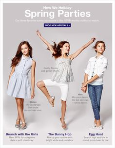 dress code: spring parties fashion детская мода, д Dresses For Tweens, Outfits For Teens, Spring Outfits For School, School Outfits, Little Kid Fashion, Spring Party, Tween Fashion, Girls Shopping, Shopping Places