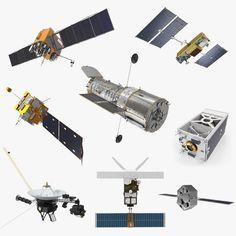 3D model satellite 4 - TurboSquid 1379604 Weather Satellite, Indian Space Research Organisation, Astronomy Science, Remote Sensing, 3ds Max Models, Hubble Space Telescope, Interstellar, Spacecraft, Game Design