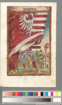 Colour Plate: German State Banners:  Maidburg, Imperial City