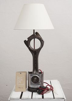 Desk lamp made of piston from truck Modern lamp by RECONrenewed