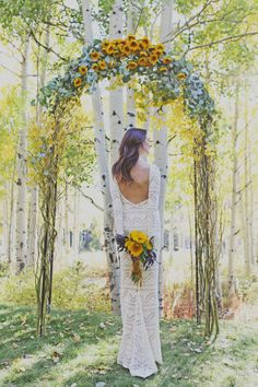 pretty floral arch for an outdoor ceremony Wedding Ceremony Ideas, Ceremony Decorations, Outdoor Ceremony, Wedding Arches, Reception Ideas, Wedding Reception, Yellow Wedding, Dream Wedding, Wedding Stuff