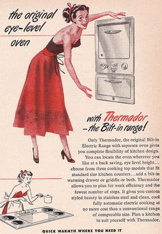 Thermador - I should cook more in strapless gowns... she looks so *Happy*