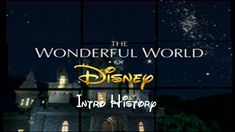 The Wonderful World of Disney Intro History (1954-present) - YouTube World Of Disney, Disney Intro, Happy Birthday Mickey Mouse, Pinocchio, Wonders Of The World, Disneyland, Presents, History, Tv