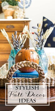 Easy ways to add the warmth of Fall to your decor while using what you already have. Simple and budget-friendly ideas with pictures and examples. #spon