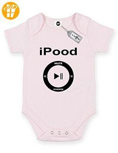 Ipood Short Sleeve Baby Body Strampler. KOSTENLOSE LIEFERUNG IM LIEFERUMFANG ENTHALTEN. Rosa Hellpink (*Partner-Link)