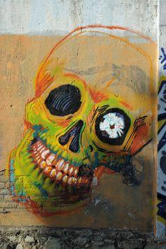 All sizes   Yellow Skull Mural Oaxaca   Flickr - Photo Sharing!