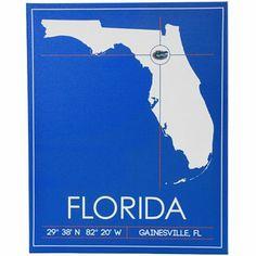 Florida Gators 20'' x 25'' University Map Canvas Wall Art