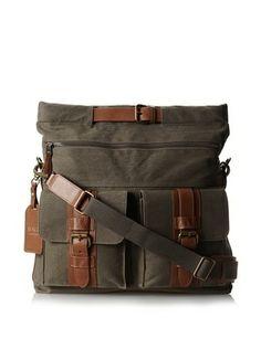 Bosca Men's Correspondent Explorer Bag (Chestnut/Olive)