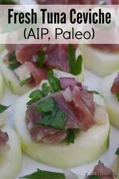 AIP/Paleo Fresh Citrus Tuna Ceviche
