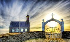 Just.!n.Iceland - Google+ - Hvalsnes Church © +Trey Ratcliff  @ stuckincustoms.com