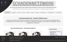 Planung, Design und Entwicklung der Webseite http://schadennetzwerk.de/ für HANNES GmbH, Remscheid