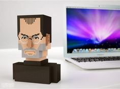 3D model of Steve Jobs found at Shapeways. Kind of expensive at $99.33