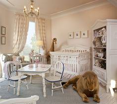 Pretty nursery, love the oversized stuffed animals