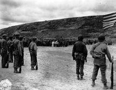 The dedication of Cemetery No 1 (Omaha Beach) 12 June 1944