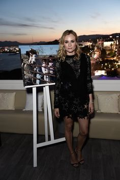 Pin for Later: The Very Best Style Moments From Last Year's Cannes Red Carpet Diane Kruger The actress hit up the party scene in a star-spangled, long-sleeved minidress that boasted sheer detail.