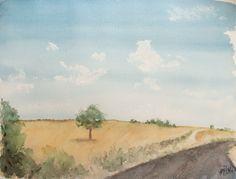 Acuarela - El camino. Watercolor - The way. HMZEN'14