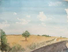 Acuarela - El camino. Watercolor - The way. HMZEN'14