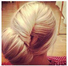 Bridesmaid hair style.
