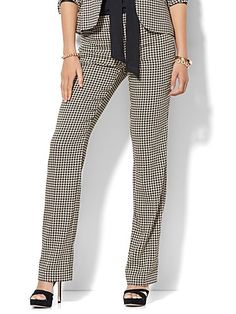 dfd2bb59216 Straight Leg Pant - Signature Fit - Houndstooth - 7th Avenue