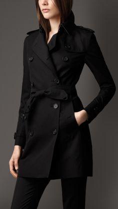 Mid-Length Cotton Gabardine Trench Coat | Burberry