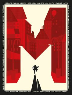 "This is the poster I created for the film M by Fritz Lang! it was displayed at the LONDON FILM & COMIC CON. in the last days and it is now for sale! HERE: here are the specifics: ""This striking..."