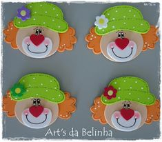 Art's da Belinha: Palhaço Kids Crafts, Clown Crafts, Popsicle Stick Crafts For Kids, Foam Crafts, Clown Party, Circus Theme Party, Circus Birthday, School Board Decoration, Kids Notes