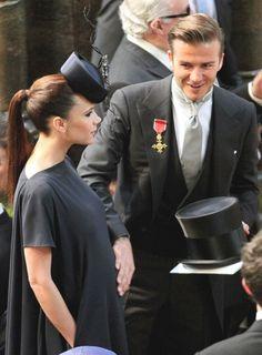 amazingly stylish, pregnant Victoria Beckham at the royal wedding