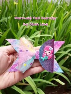 Diy Ribbon, Hair Clips, Fishtail, The Little Mermaid, Ariel, Ribbons, Hair Bows, Etsy, Crafts