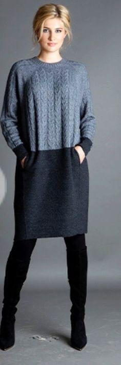 Необычные свитера / Вязание / ВТОРАЯ УЛИЦА Old Sweater Crafts, Knitwear Fashion, Knit Fashion, Knit Dress, Alter Pullover, Pullover Shirt, Knitting Designs, Knitting Patterns, Sewing Clothes