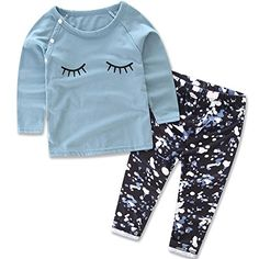 0c969442506 2 Pcs/Set Newborn Infant Baby Girls Clothes Cute Bebes Cotton Long Sleeve  Eyelash T-Shirt +Pants Outfits Kids Clothing Sets