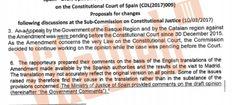 Exclusiva: el document que demostra les pressions de l'estat espanyol per a rebaixar les crítiques de la Comissió de Venècia | VilaWeb