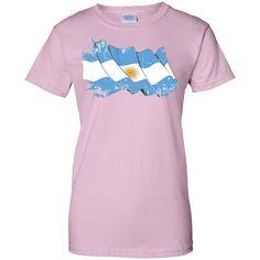argentina flag 3-01 Ladies Custom 100% Cotton T-Shirt