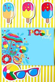 Resultado de imagem para convites pool party