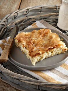 Κρεμμυδοτυρόπιτα - www.olivemagazine.gr Greek Recipes, Wine Recipes, Cooking Recipes, Cookie Dough Pie, Savoury Baking, Recipe Boards, Mediterranean Recipes, Apple Pie, Food And Drink