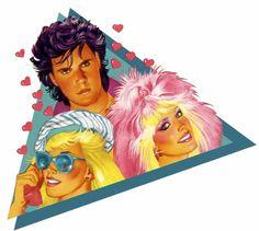 The triangle. Jem doll box art.