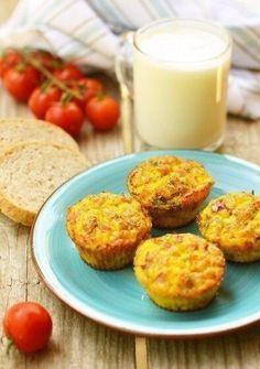 мини-омлеты с ветчиной - идеальный завтрак