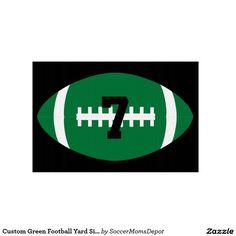 Custom Green #Football Yard Sign