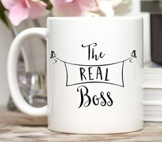 Administrative Assistant Gift / Administrative Professionals Day / The Real Boss / 11 or 15 oz Mug / Free Gift Wrap on Request / Admin Gift