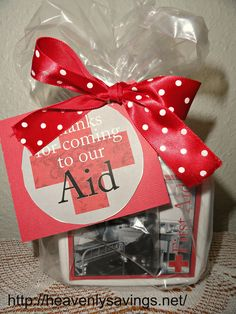 Thanks for coming to our aid...Neat gift (using a useful first aid kit) for a neighbor, scout leader, or anyone.