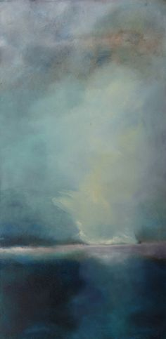 Ashore, atmospheric landscape painting by Sharon Kingston, 2009