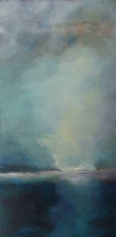 Ashore, atmospheric landscape painting by Sharon Kingston, 2009