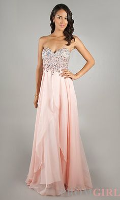 Floor Length Jewel Embellished Prom Dress by Dave and Johnny 9939 at PromGirl.com