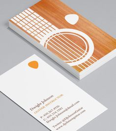 Guitar Silhouettes: for freelance guitarists, songwriters, function bands, and anyone who goes weak at the sight of a guitar – these cards are right up your musical street! #moocards #businesscard