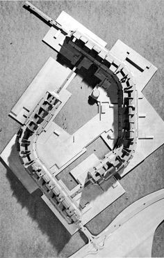© kenzo tange + students of MIT - residential unit - 1959  ♥ 137 × architectural model japanese model 50's kenzo tange