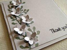 Kika's Designs : Thank you Card in white
